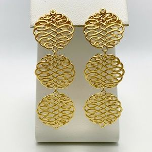 Kesi Jewels 18k GP Sterling Silver Dia. Earrings